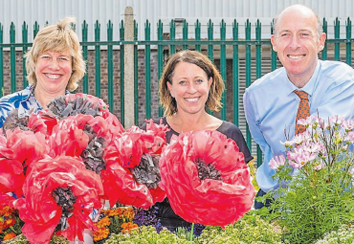 Handmade poppies to go on display